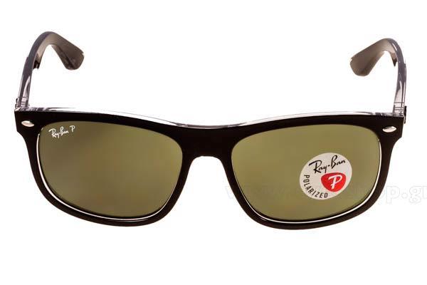 a2861abf55 Frame Color matte black - Lenses Color g15 graygreen plastic polarized.  Rayban model 4226 color 60529A polarized