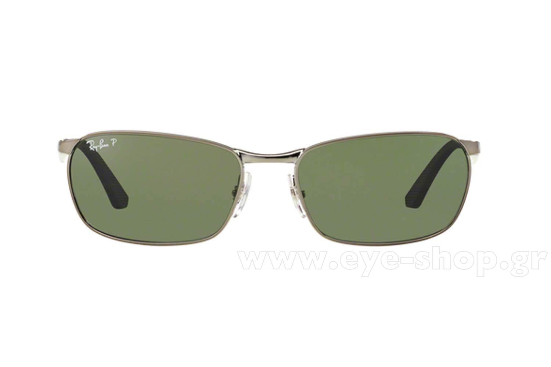 f82e08aaead Frame Color silver - Lenses Color g15 graygreen plastic polarized. Rayban  model 3534 color 004 58 Polarized