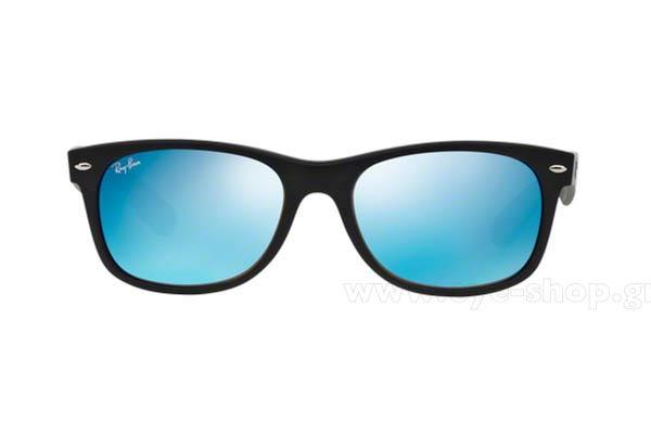 Frame Color matte black - Lenses Color blue mirror glass. Rayban model 2132  New Wayfarer ... 3f6f1b97ce8