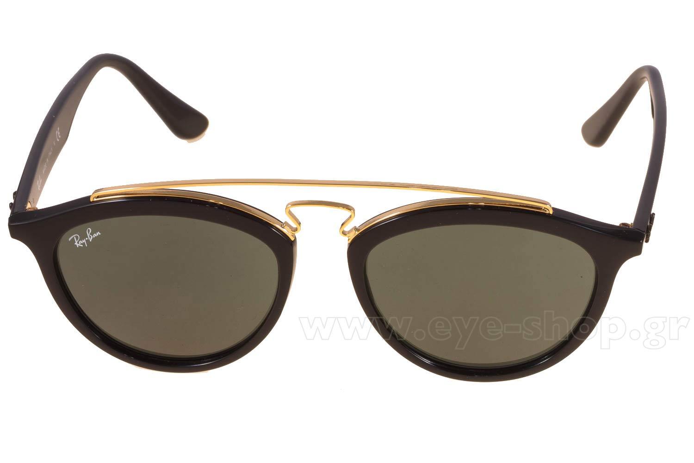 80ddbf78bd Frame Color black gold - Lenses Color g15 graygreen plastic. Rayban model  4257 color 601 71 large