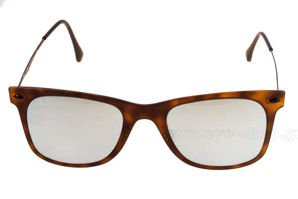Frame Color matte brown tortoise - Lenses Color silver mirror. Rayban model  4210 color 624430 cc548e940307