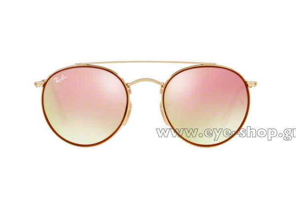 512bc04fce Frame Color gold bordeaux - Lenses Color pink mirror gradient FLAT. Rayban  model 3647N ...