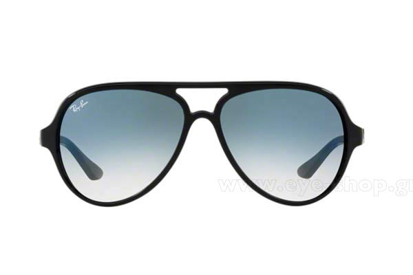 2ee64d3a81 Frame Color Black - Lenses Color blue gradient. Rayban model 4125 CATS 5000  ...