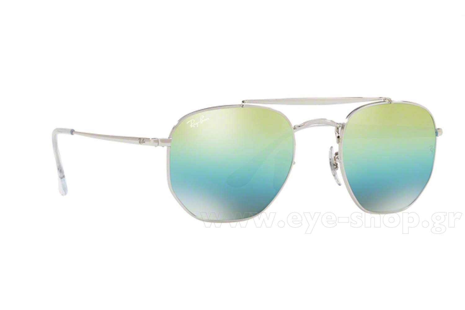 34fe2f74da SUNGLASSES Rayban 3648 THE MARSHAL 003 I2 Hexagonal Double Bridge