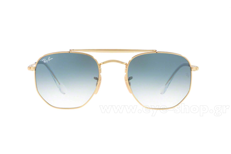 552808ad81eb Men Sunglasses Rayban 3648 THE MARSHAL 001 3F Hexagonal Double Bridge -  size 54