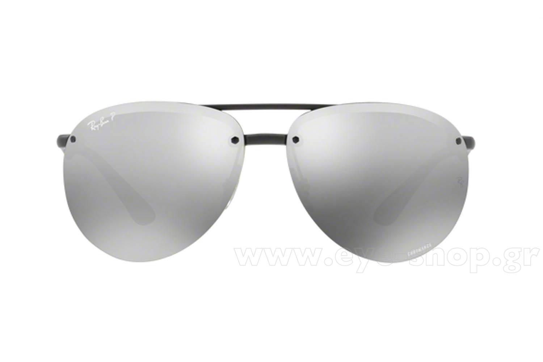 3fb93fc7346 Frame Color Black - Lenses Color silver mirror Chromance Polarized. Rayban  model 4293CH ...