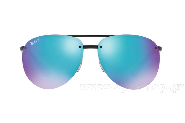 9c65e3018d Frame Color Black - Lenses Color Blue mirror polarized. Rayban model 4293CH  color 601 A1 Chromance Polarized
