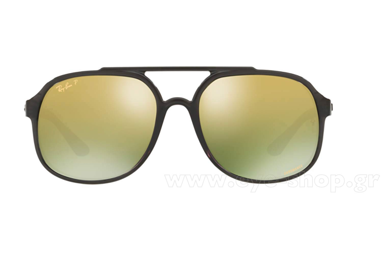6f5bd61a45 Frame Color Black - Lenses Color green mirror chromance polarized. Rayban  model 4312CH color 876 6O polarized