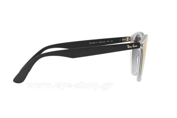 e85209da8e Frame Color black transparent - Lenses Color gray gradient organic. Rayban  model 4380N BLAZE color 6355U0