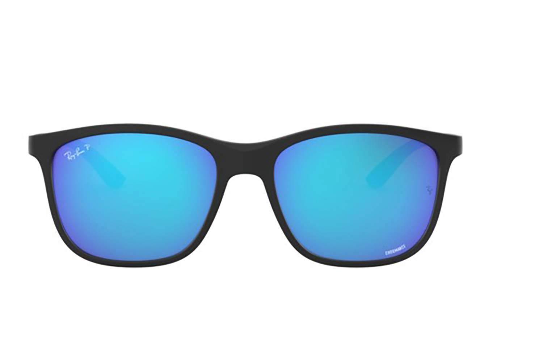 ray ban blue mirrored aviators polarized