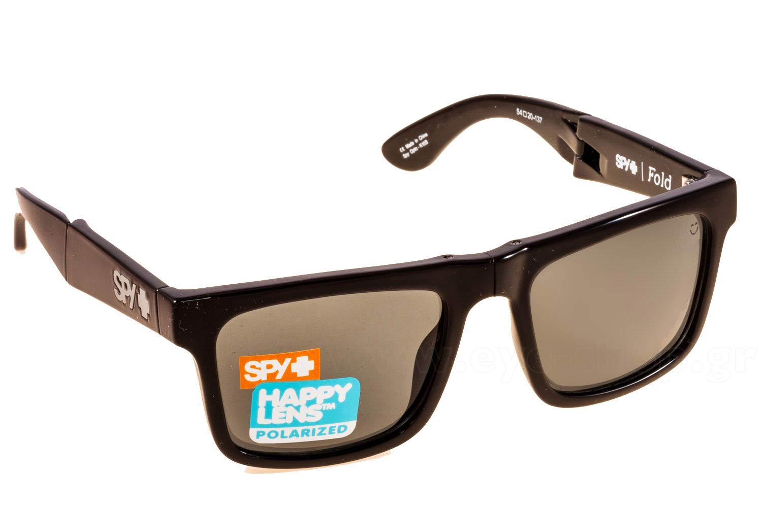 0eb91b7874 SUNGLASSES SPY FOLD BLK- HappyLens GREYGREEN polarized