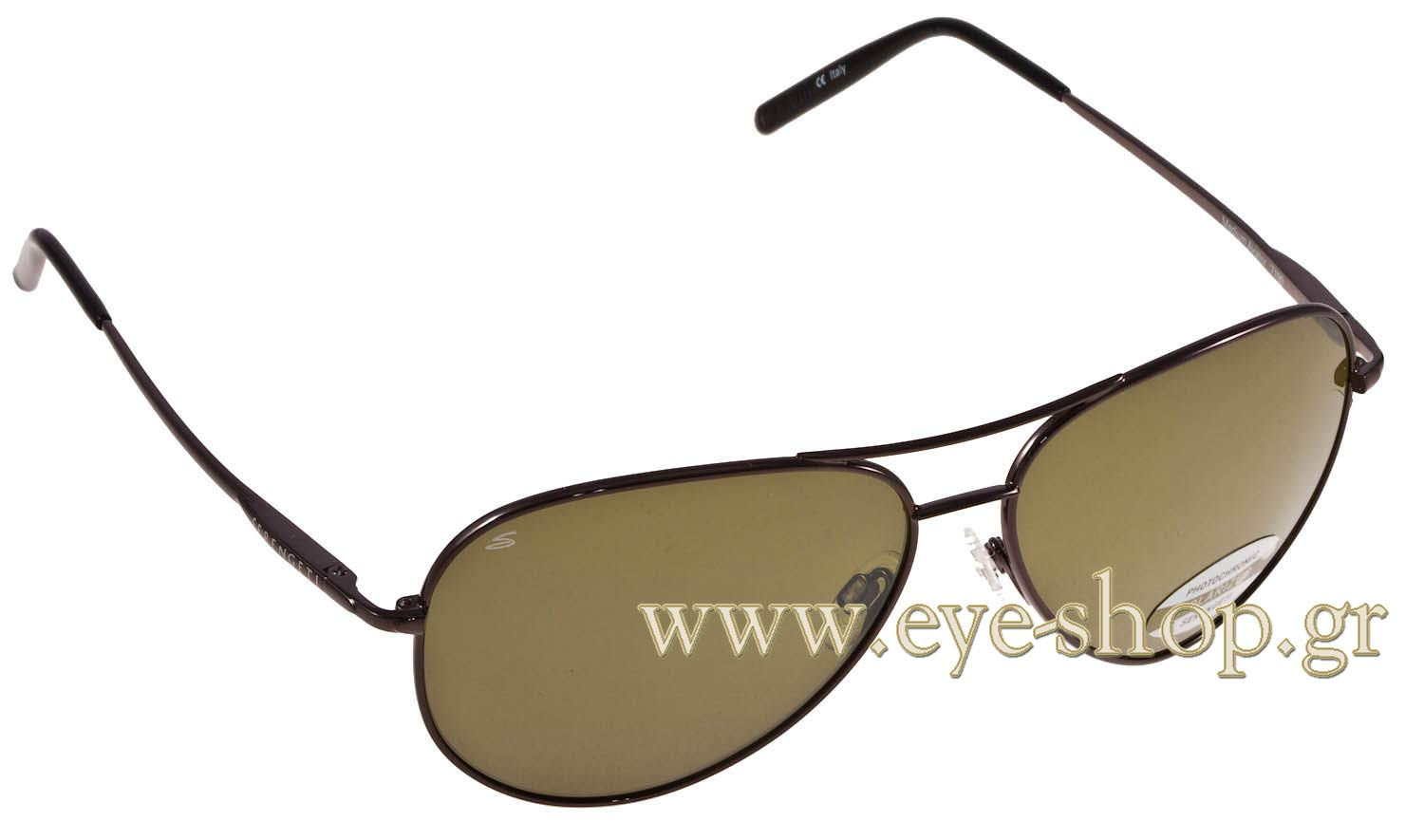 e297eacad2 SUNGLASSES Serengeti 7190 Medium Aviator Shiny Gun