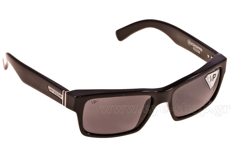 c66dcde35dd SUNGLASSES Von Zipper Fulton VZSU78 Polarized Grey Tri-Motion Black Gloss