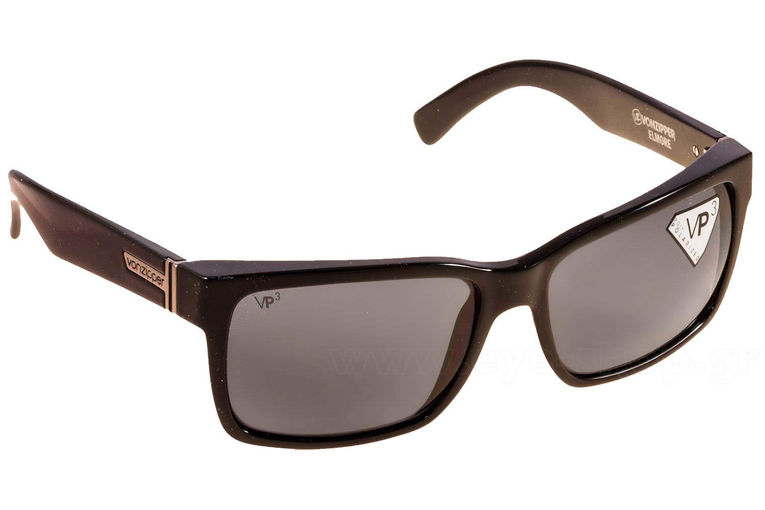 9d2b7b8126 SUNGLASSES Von Zipper Elmore VZSU79 Black Gloss Polarized