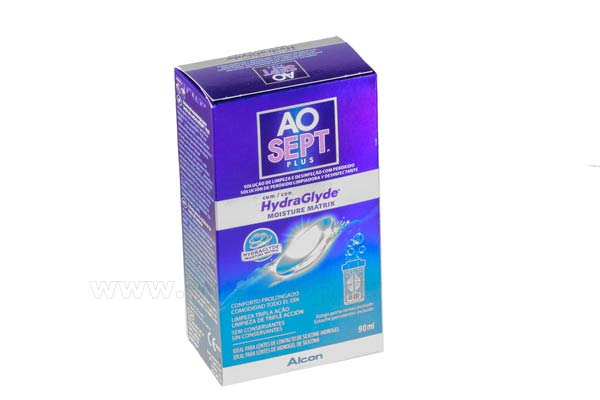 Contact lenses solutions cleaners  Alcon Ciba Aosept Plus 90ml Hydraglide