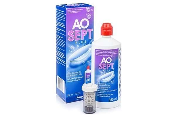 Contact lenses solutions cleaners  Alcon Ciba Aosept Plus 360ml