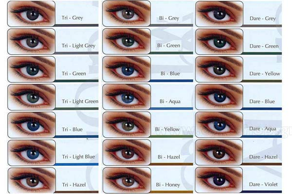 2452078d12c2 CONTACT LENSES Eyemed Adore Bi-Tone 3months Coloured Eye-Shop